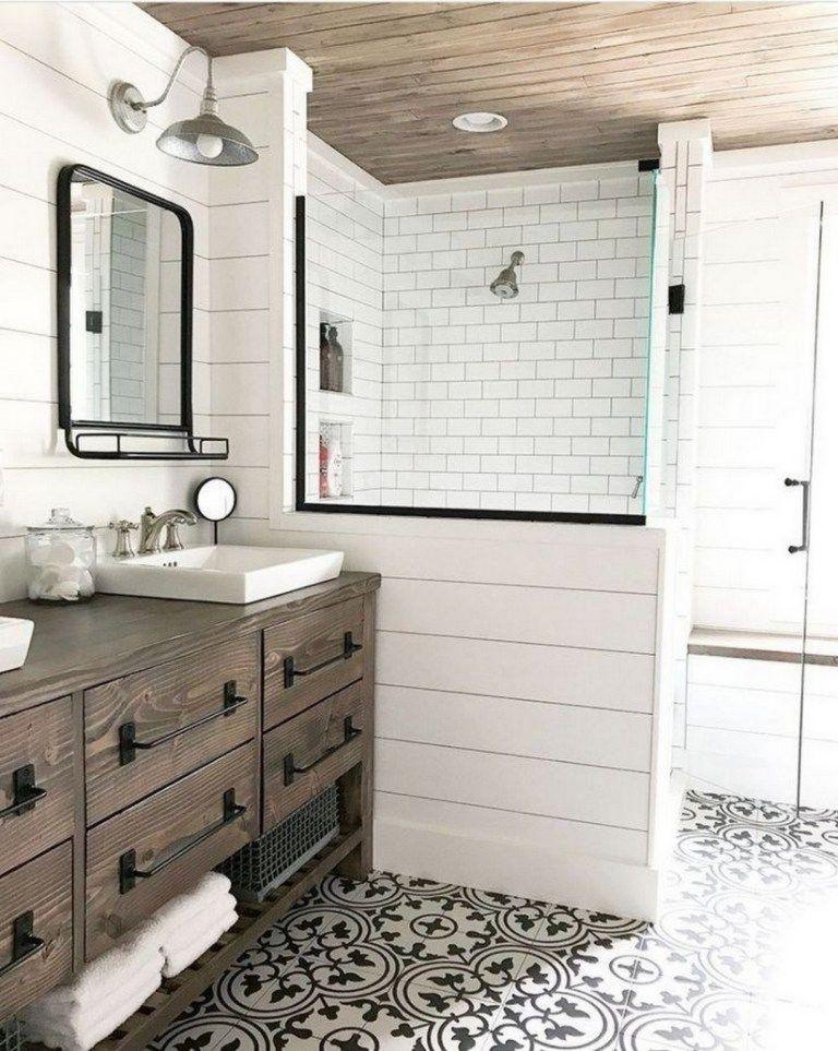 21 Modern Farmhouse Master Bath Renovation Decorholic Co In 2020 Master Bathroom Renovation Farmhouse Shower Modern Farmhouse Bathroom