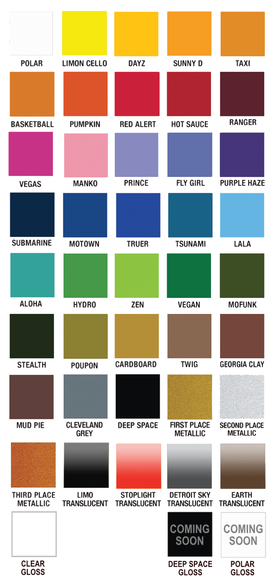 Plutonium Paint Color Chart Our Products Pinterest
