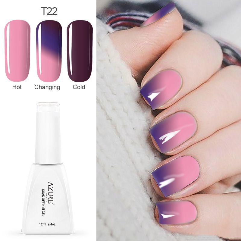 Azure Temperature Color Changing Nail Gel Polish Long-lasting Soak ...