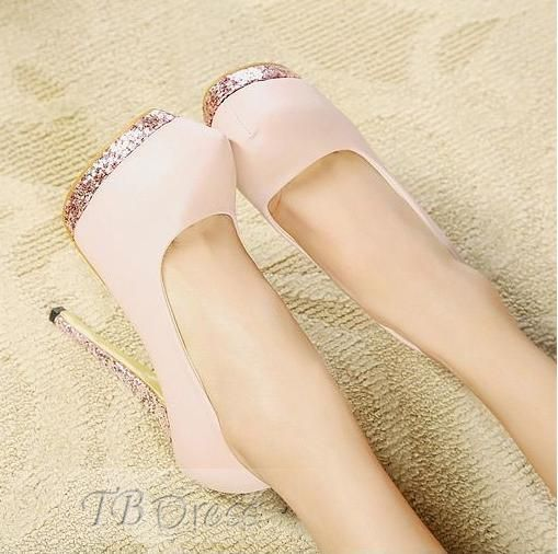 Lovely Light Pink Closed-toe Prom Shoes