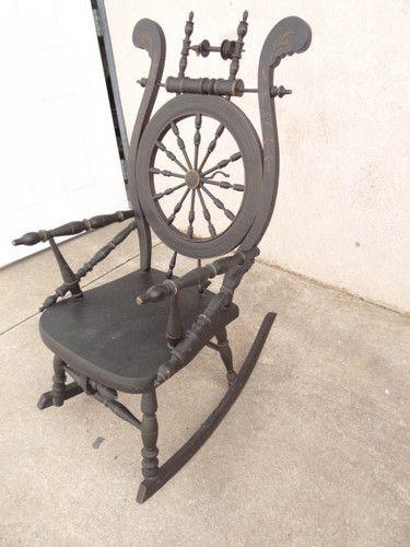 Superb Antique Victorian Bench Made Rocker Rocking Chair Primitive Machost Co Dining Chair Design Ideas Machostcouk