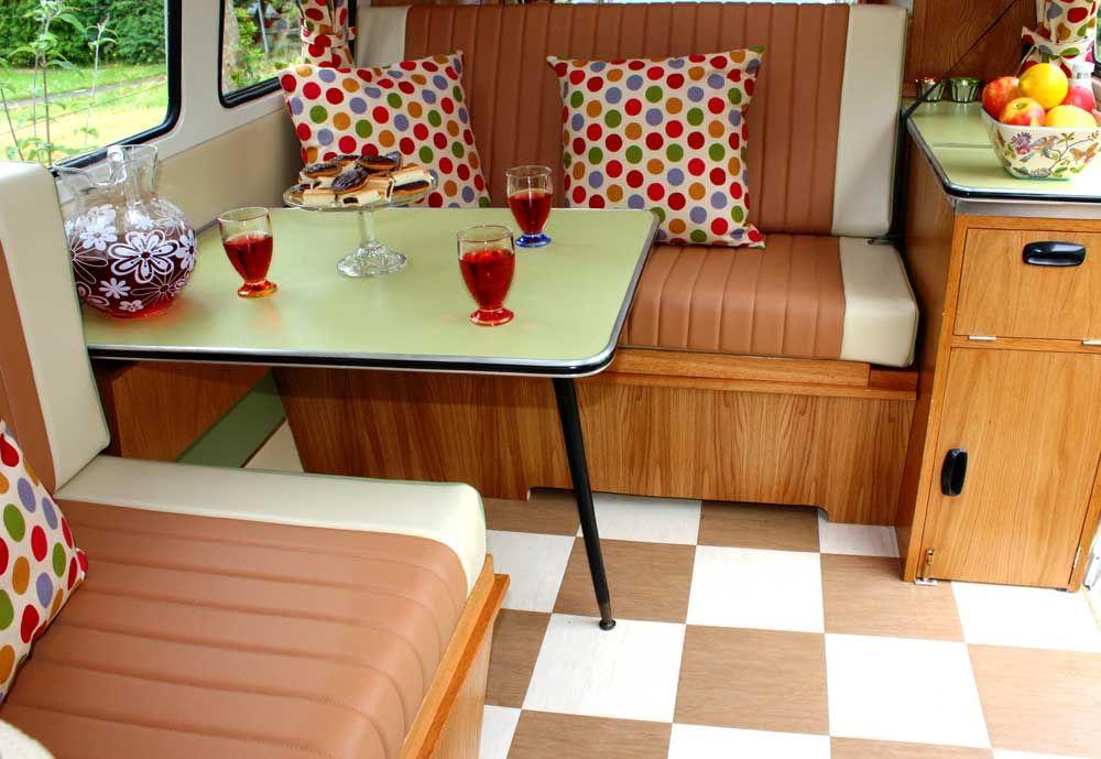 50er Tisch Umgebaut Wohnwagen Umbauen Vw Bus Interior Vw T
