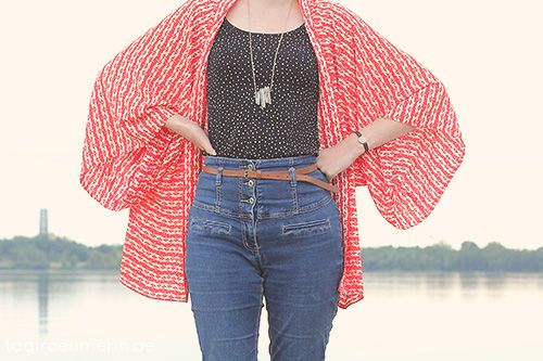 DIY: Leichter Kimono-Cardigan | tagtraeumerin - Gratis Schnittmuster ...