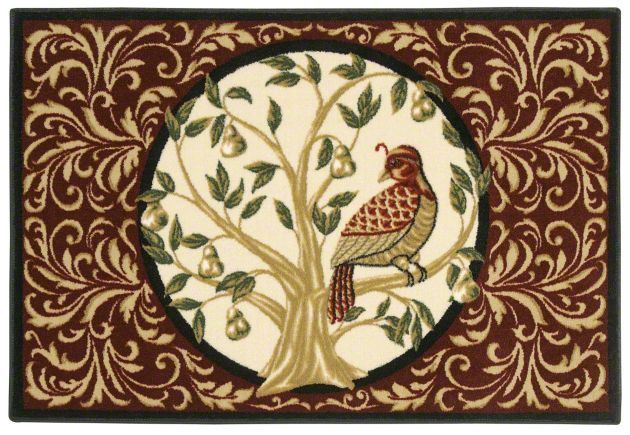Holiday Collection Partridge In A Pear Tree 3p173 Shaw Area Rug Georgia Carpet Industries