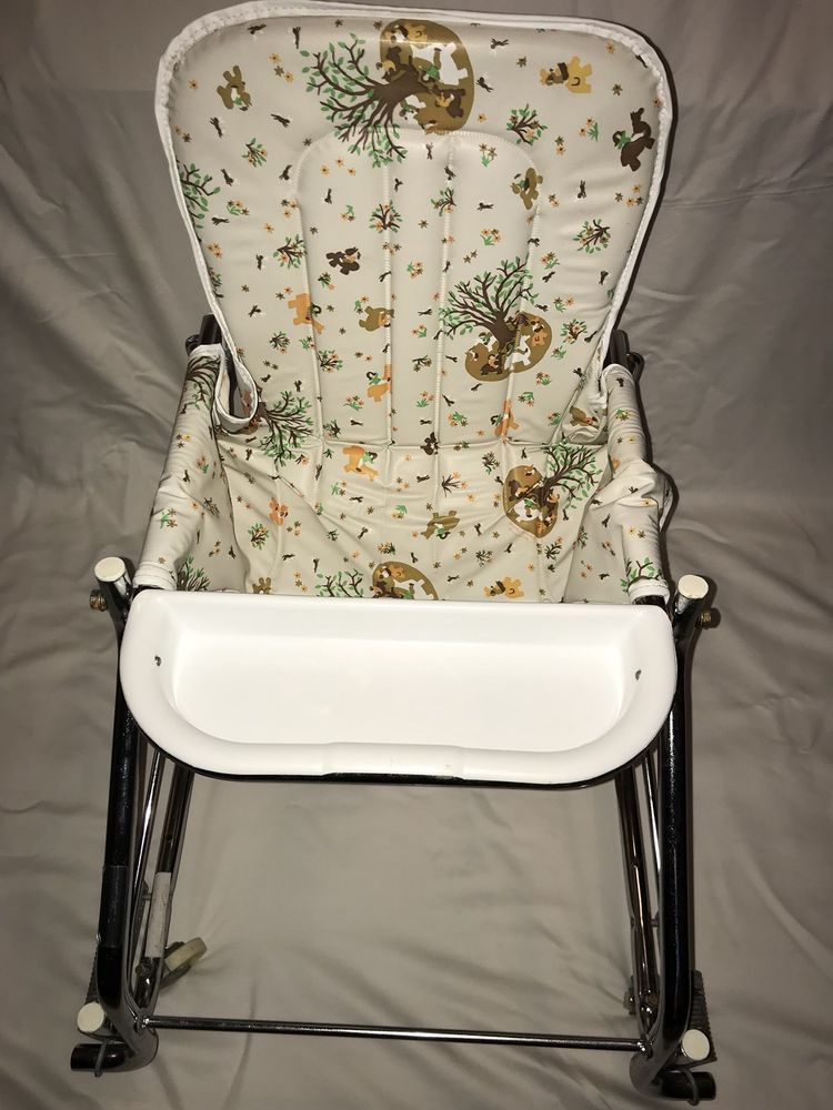 Details About Baby Walker Antique Vintage Retro Seat High