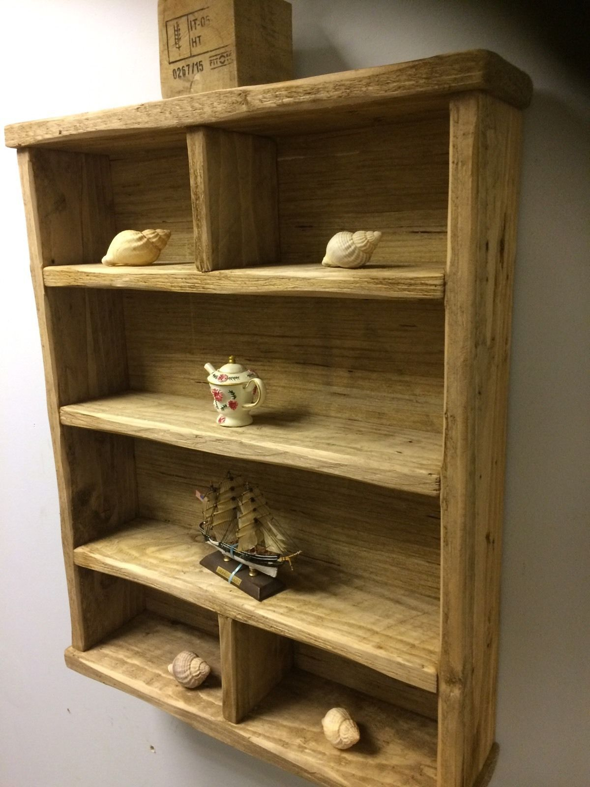 IT IS HOWEVER A VERY GOOD SOLID SHELF. it is a unique shelf that will stand out wherever its located in your home. Rustic oak wax to protection the wood. This unique handmade shelf. You will not find this type of product anywhere else as its personally designed and put together. | eBay!