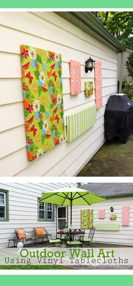 How To Make Outdoor Wall Art Outdoor Wall Decor Patio Wall Art