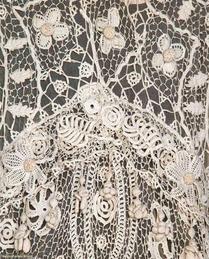 Detail: IRISH LACE COAT, AMERICA, c. 1905