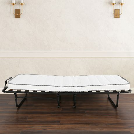 Primo International Dwight Folding Cot Bed Black Twin Cot