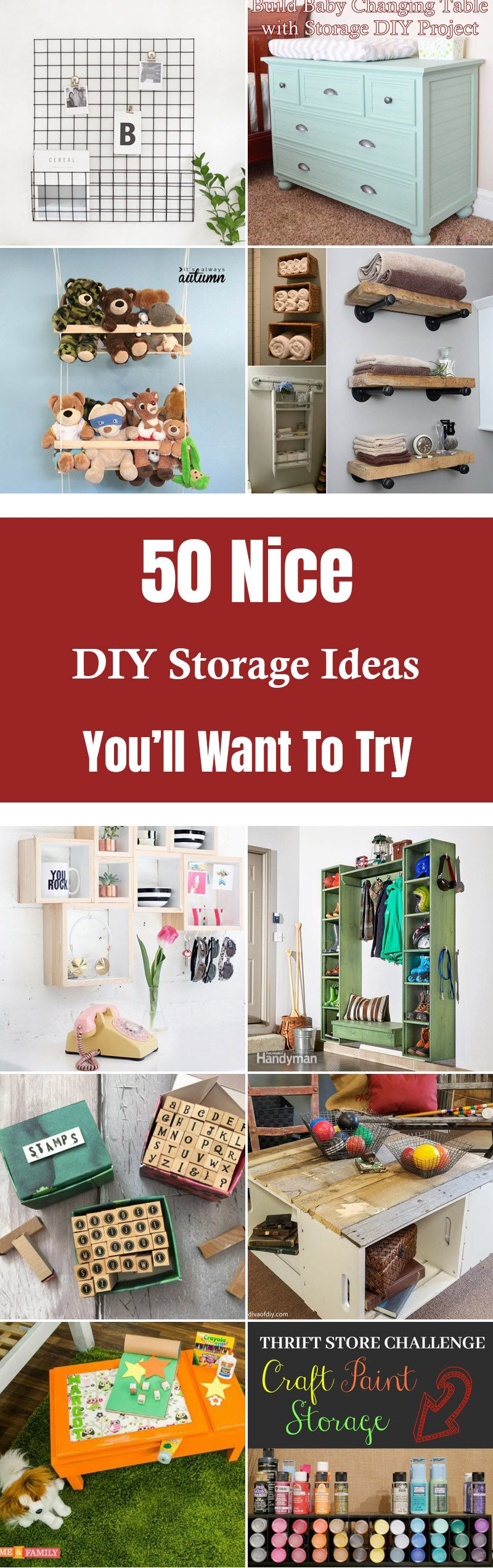 50 Nice Diy Storage Ideas Youll Want To Try