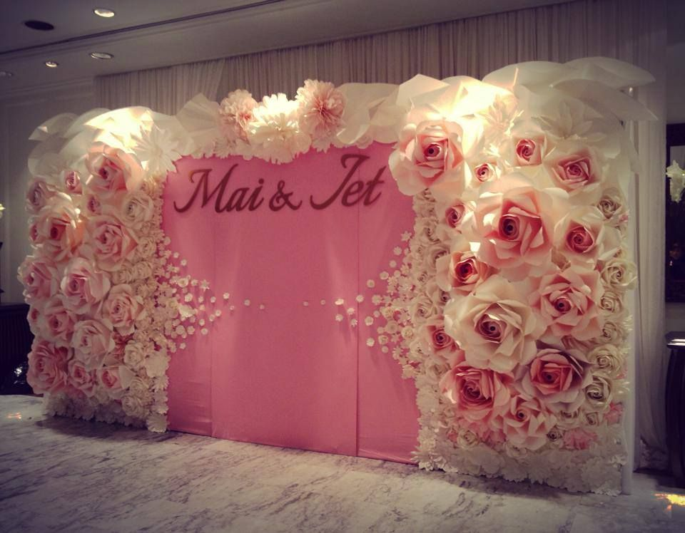 Wedding Paper Flowers Wall Crepe Paper Flower Wedding Paper
