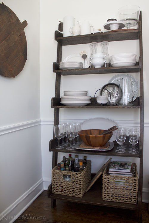 Ladder Shelf Open Storage In The Dining