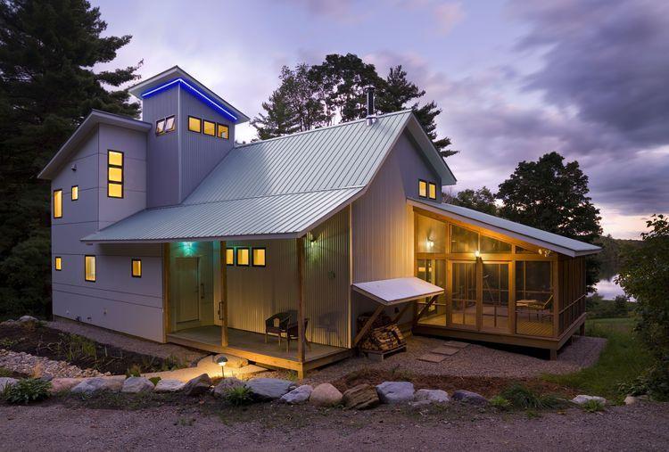 NIGHT_A 1223488afinal.jpg (avec images) | Petite maison bois, Maison bois, Maquette maison