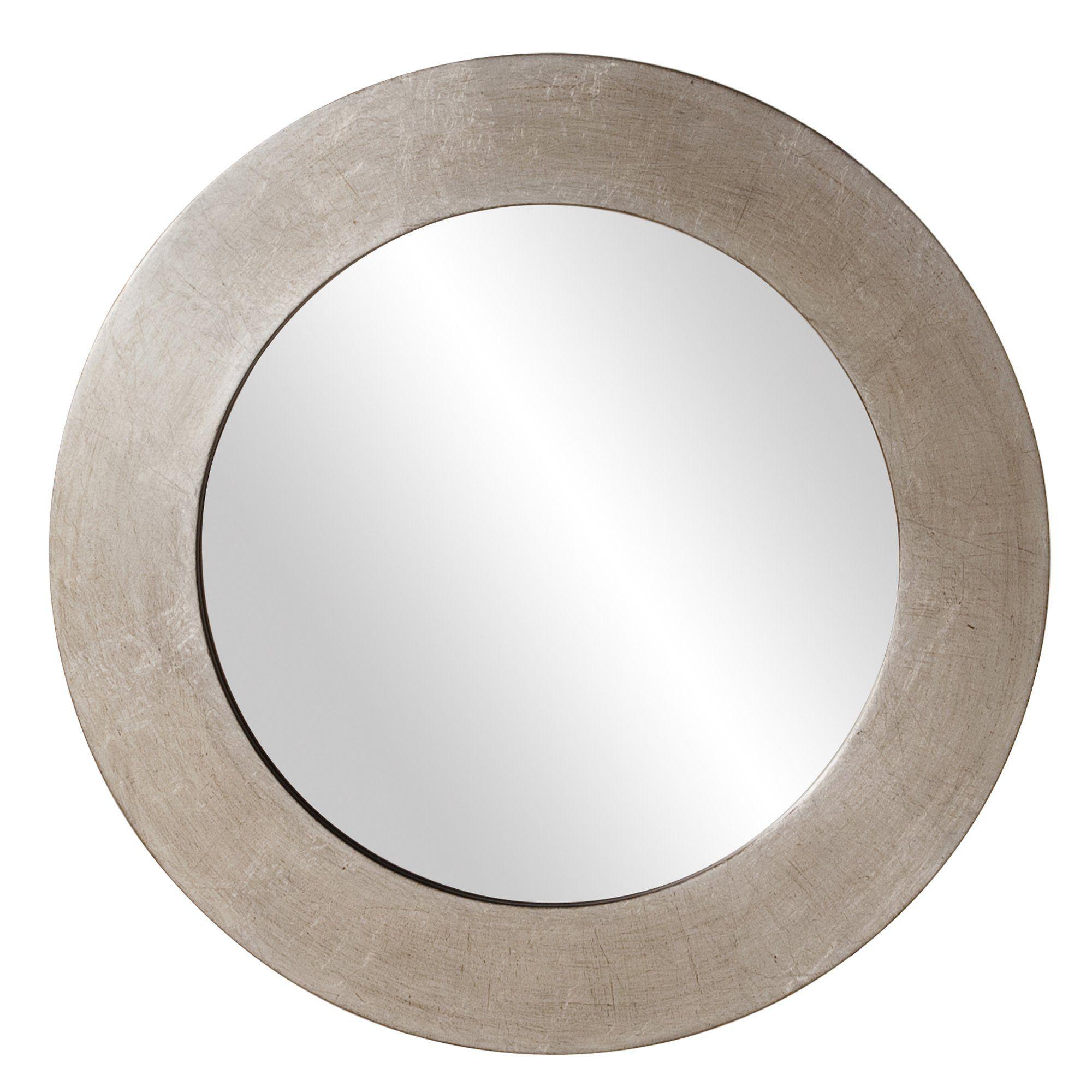 Amazon Com Howard Elliott 60200 Sonic Round Mirror 20 Inch Silver Leaf Wall Mounted Mirrors Contemporary Mirror Mirror Circular Mirror