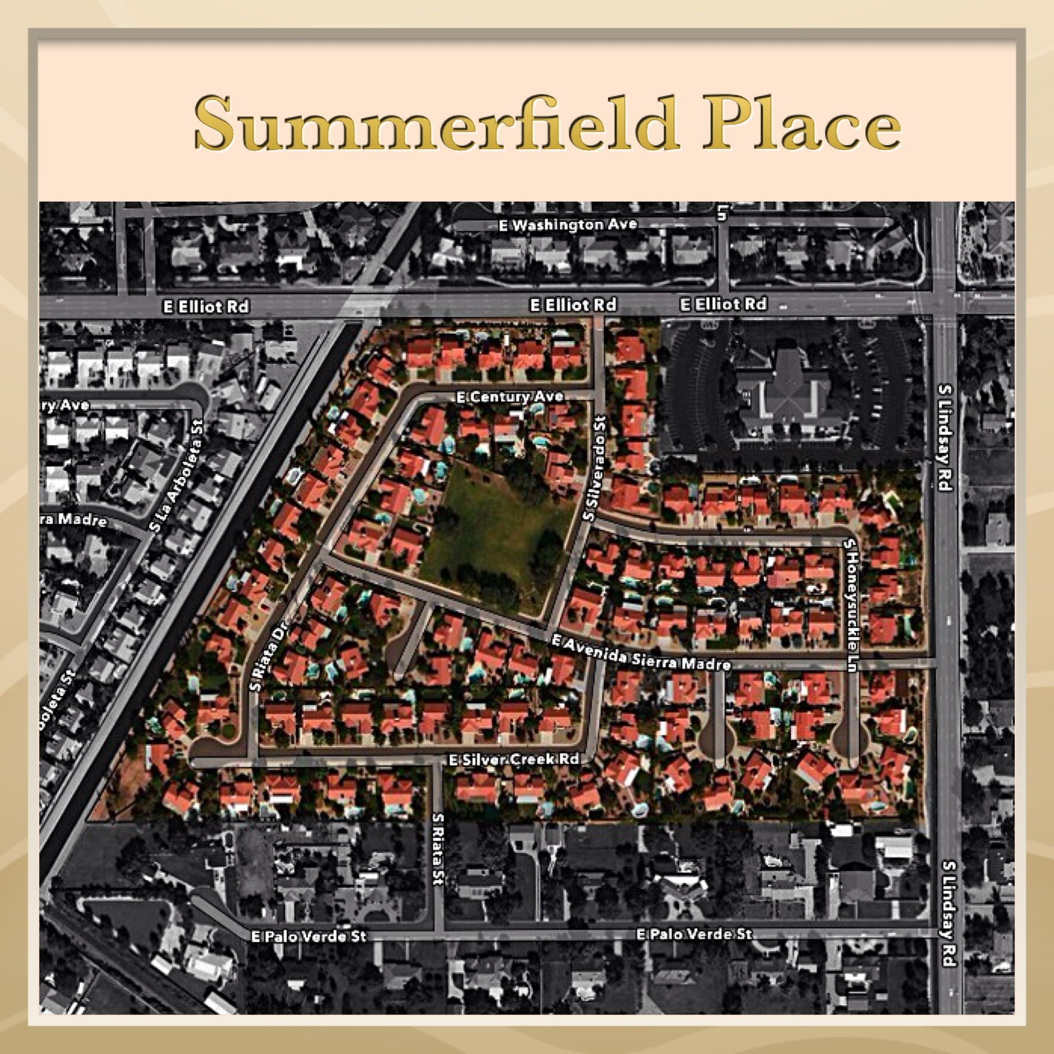Summerfield Place Gilbert Arizona info on homes for sale, builder, HOA, schools, utilities and community amenities with pictures, map and more.... The Robert Palm Team - Realty ONE Group.  (480) 359-4669