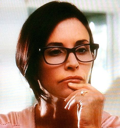 ba9b8c740e Courteney Cox wearing glasses looking pensive