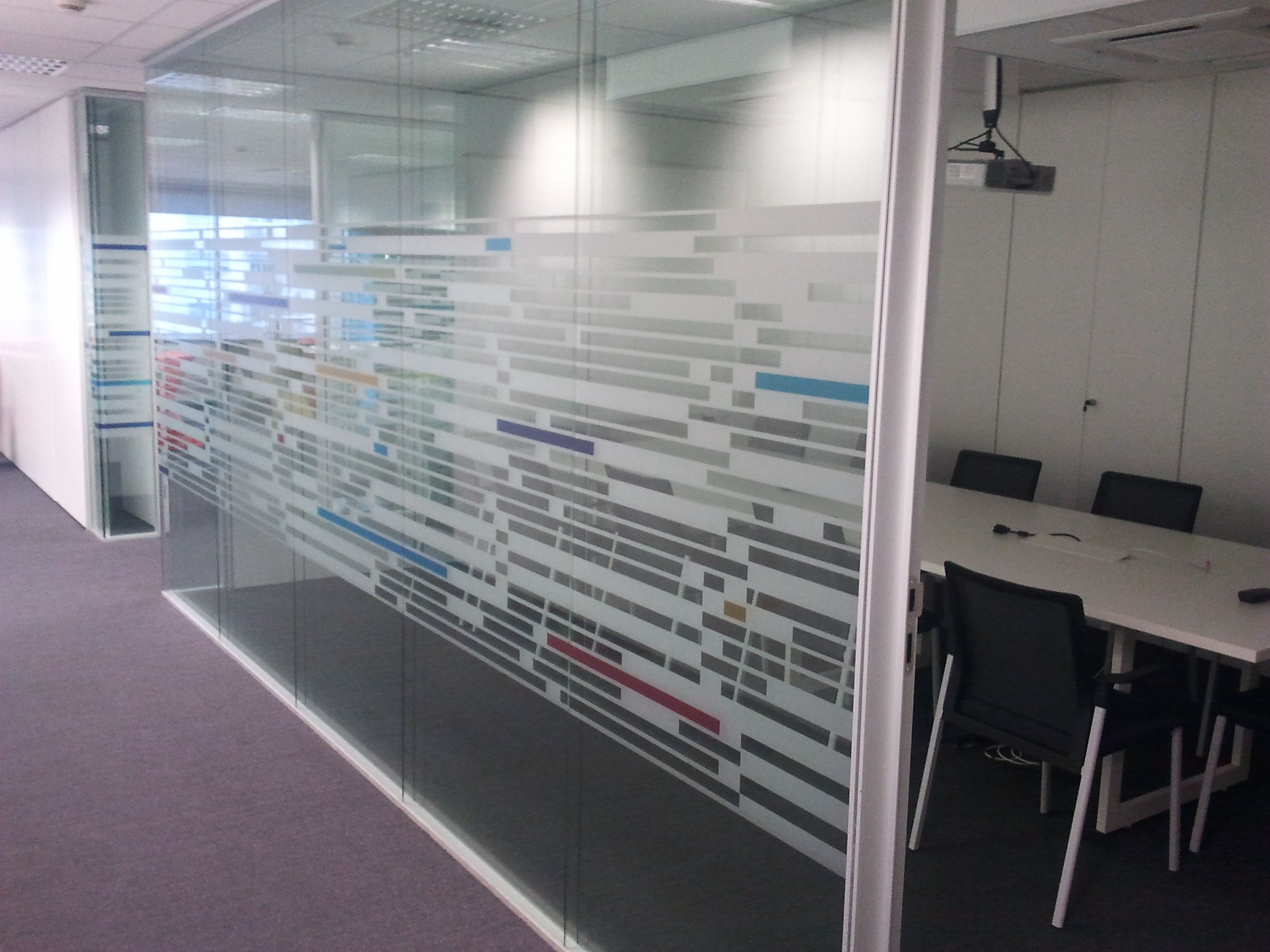 Vinilo Acido Floor Graphicsglass Doorsairportsofficesglazed Doors