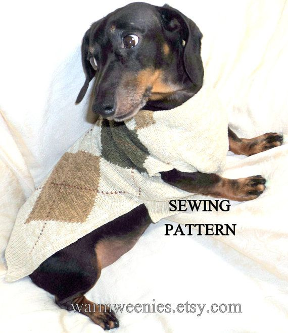 Sewing Pattern for Dachshund Sweaters by WarmWeenies.etsy.com ...