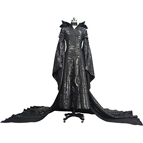New Maleficent Costume Deluxe Evil Queen Cosplay Outfit Fancy Dress UP Halloween