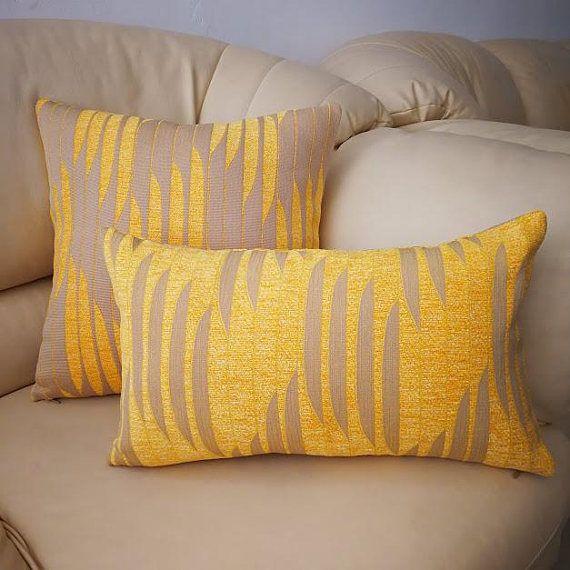 mustard yellow decor throw pillow cover