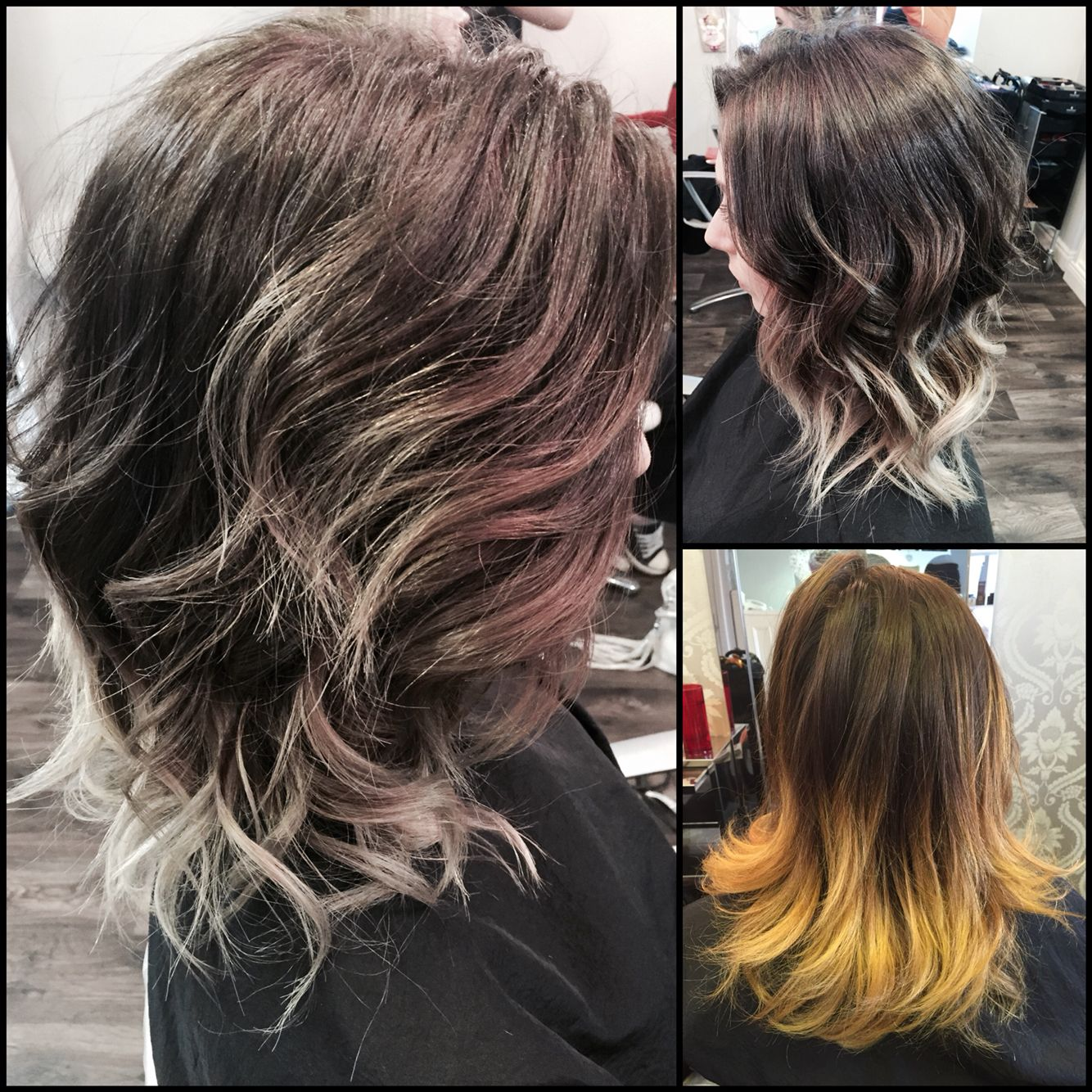 Ballayage Blond concernant before and after. my favourite. ash brown and silver ombre