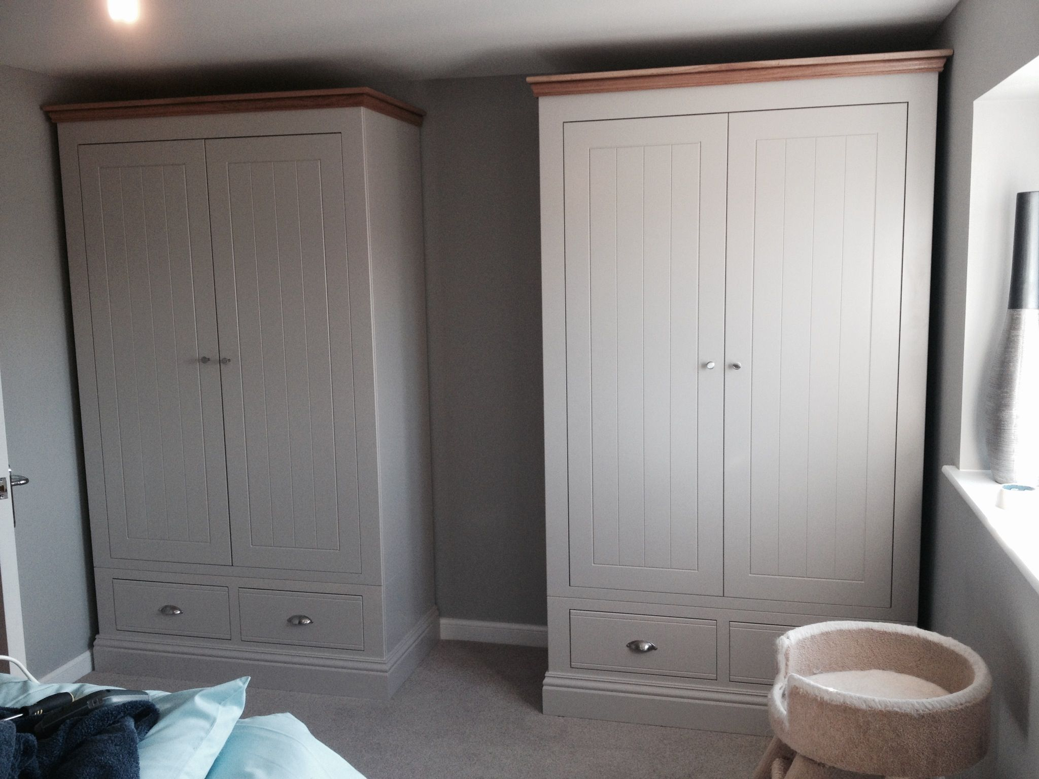Two Of Our New England Extra Tall Wardrobes Installed Today
