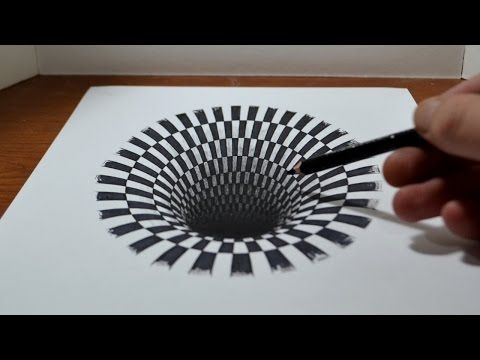 How to draw a Hole u2013 Anamorphic Illusion 3d drawings, 3d and - küchentisch und stühle