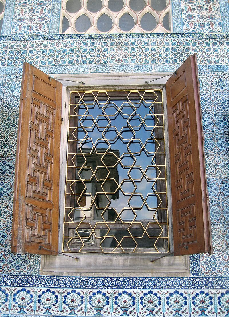 Girih Tiles Are A Set Of Five Tiles That Were Used In The Creation Of Islamic Geometric Patterns Using Strapwork Window Decor Window Architecture Tile Trends