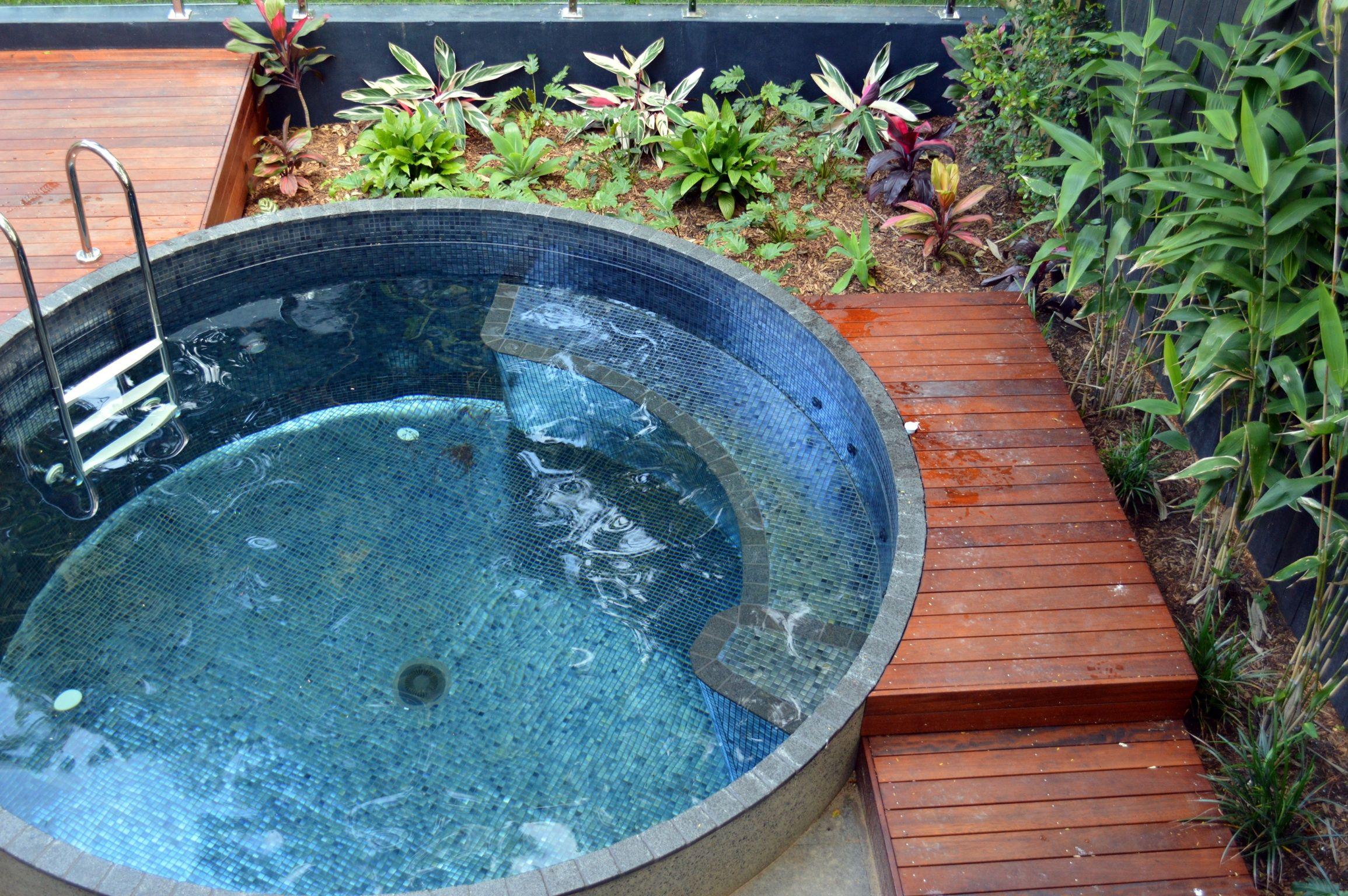 Concrete Pots Became Concrete Pools Plunge Pool Garden