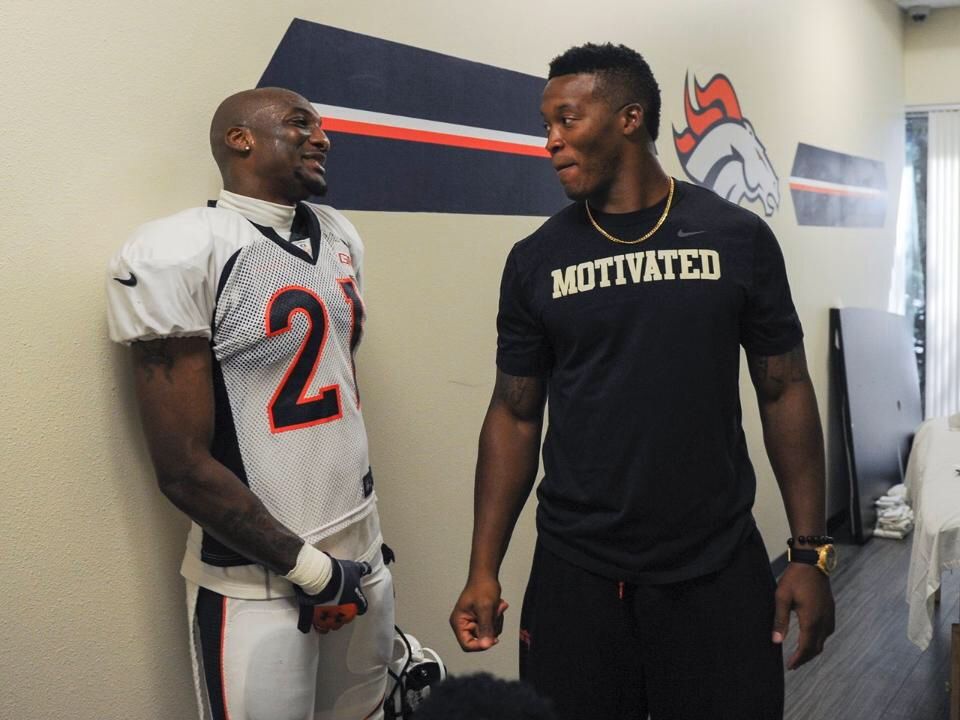 Aquib Talib and Demaryius Thomas...would love to be the cream filling in between these two!  ☺️