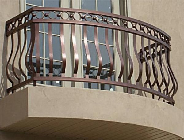 Modern Homes Wrought Iron Balcony Railing Designs Ideas With