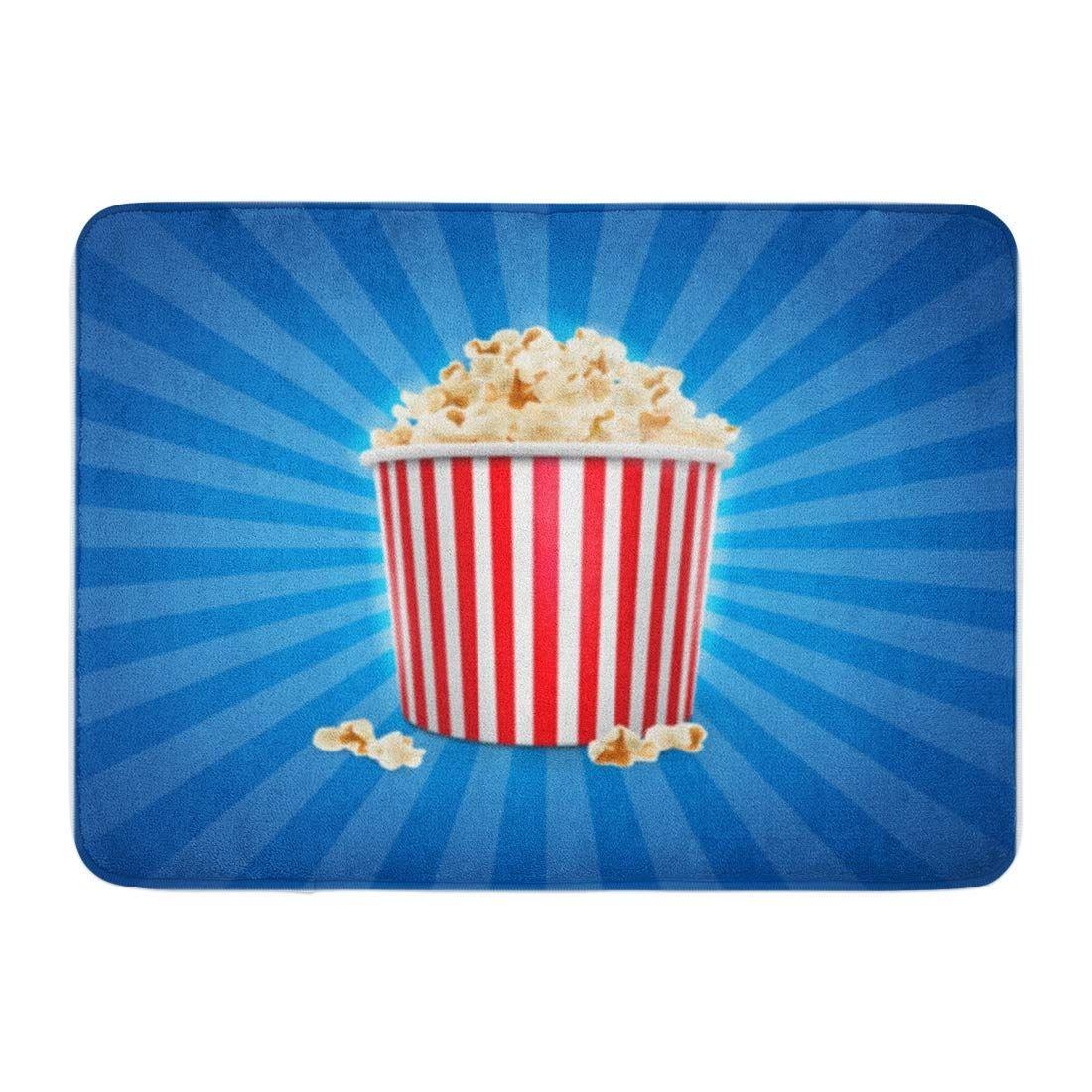 Blue Box Popcorn Food Exploding Pop Object Board Cinema Doormat Floor