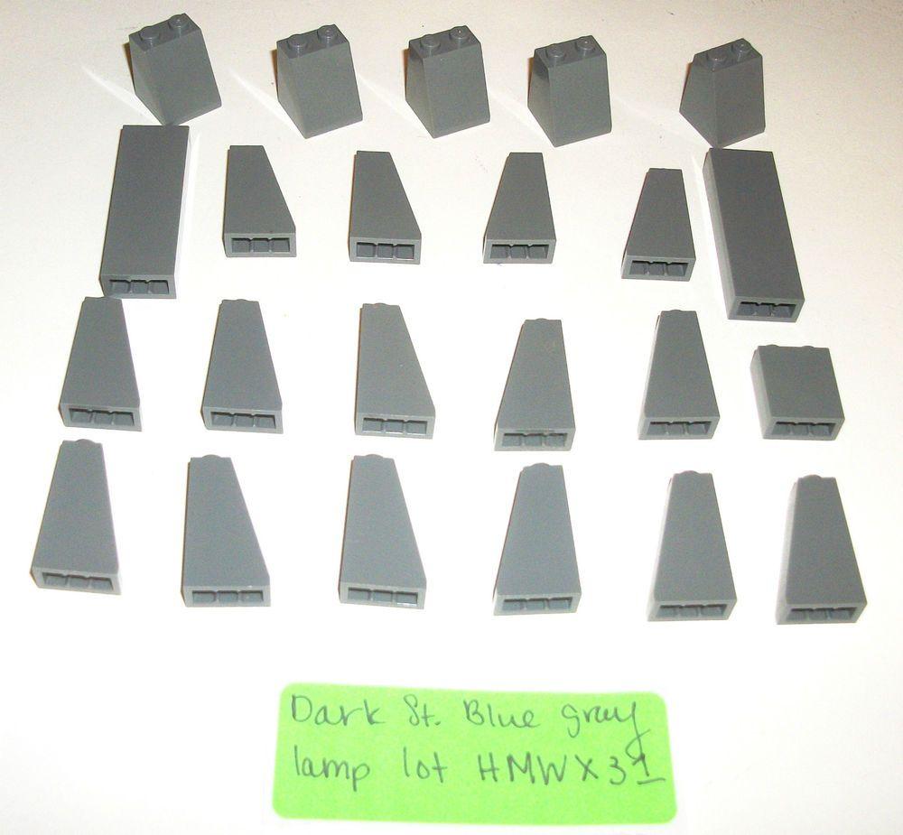 Lego Dark Stone Blue Grey 1x2x5 Brick 1x2x3 Slope 2x2x2 Roof Tile 4460 2454 3678 Lego Castle Stone Roof Tiles