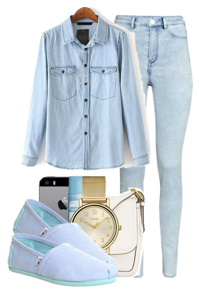 """""""- If I didn't have to wear uniform -"""" by marvelfaith ❤ liked on Polyvore featuring H&M, Tory Burch, Timex, TOMS and Michael Kors"""