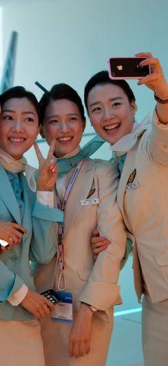 Korean airline hostess