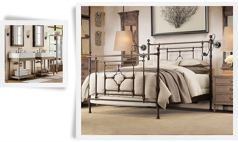 Rooms Restoration Hardware Bed Frame With Images Iron Bed
