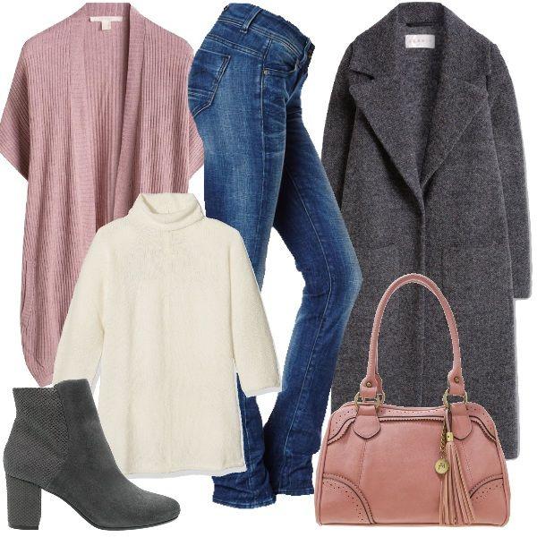 Composto Da E Casual Collo Alto A JeansMaglione Outfit E9YeHD2WI