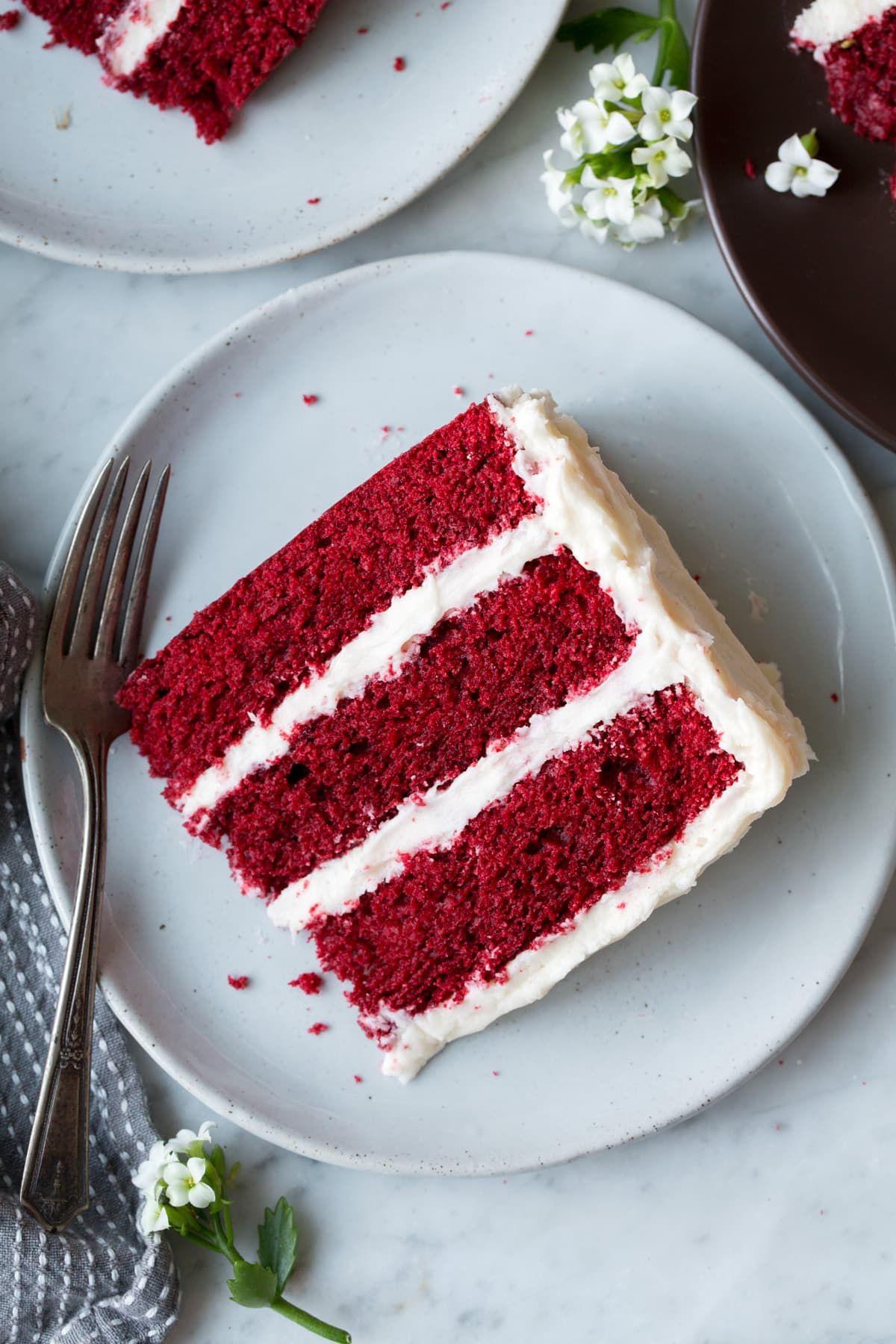 Best ever red velvet cake soft moist fluffy and