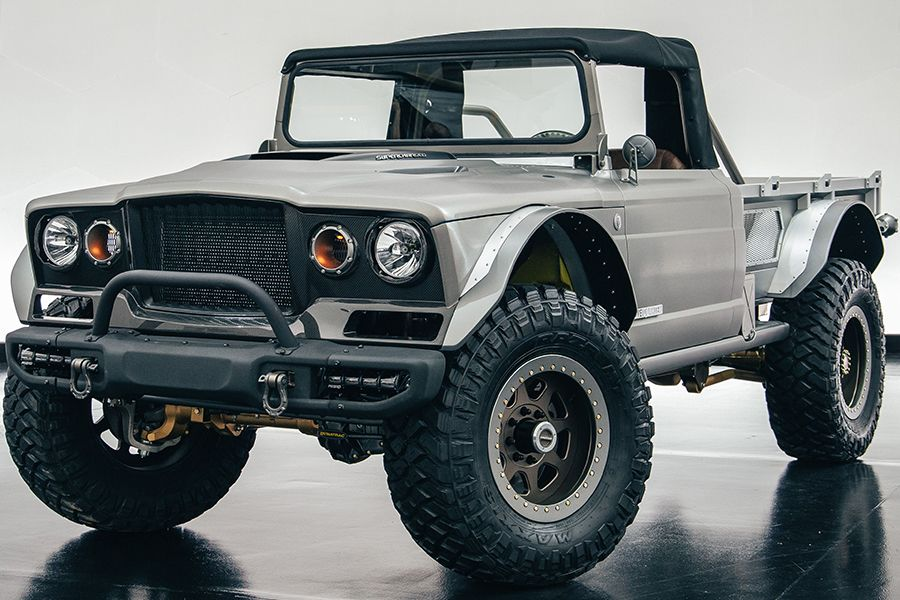 Jeep Rolls Out A Beefed Up M 715 Five Quarter Concept Jeep Jeep Pickup Trucks