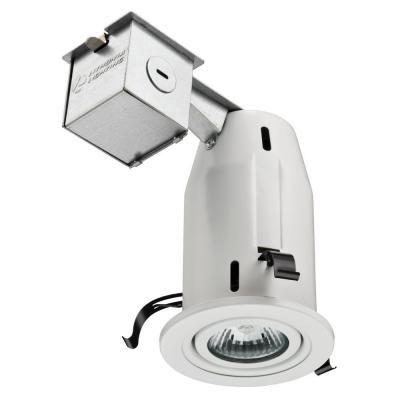 Lithonia Lighting 3 In Matte White Recessed Led Gimbal Kit Lk3gmw Lpi M6 The Home Depot