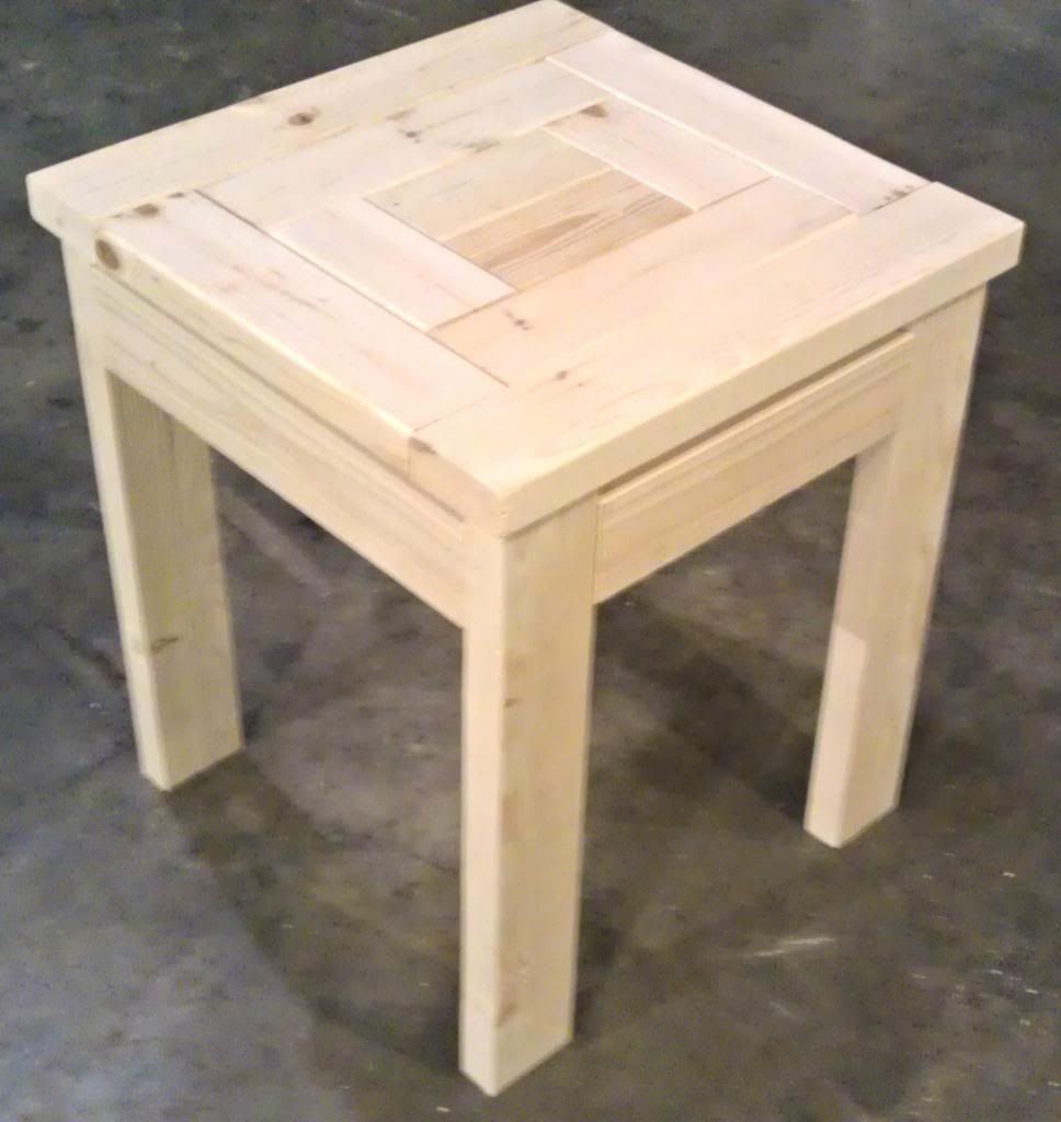 Patchwork Top Side Table Easy Project For Beginners