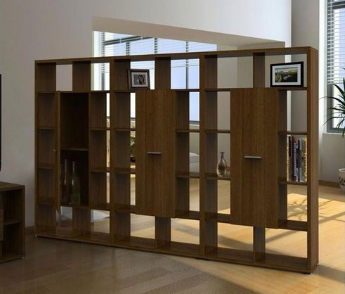 Large Wood Bookcase Room Dividers