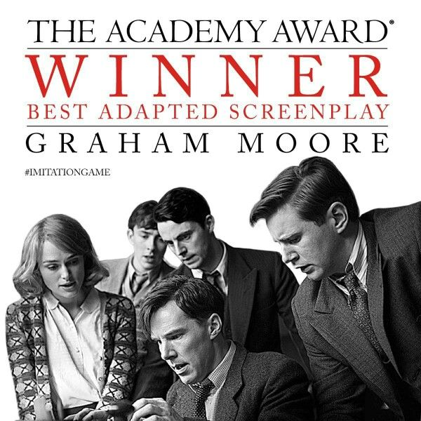 The Imitation Game won Best Adapted Screenplay at the Oscars, February 22nd 2015