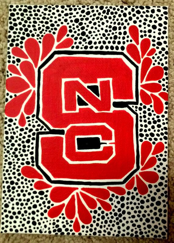 Nc State Wolfpack Mini Block S Canvas Painting State Canvas Nc State Wolfpack State Canvas Painting