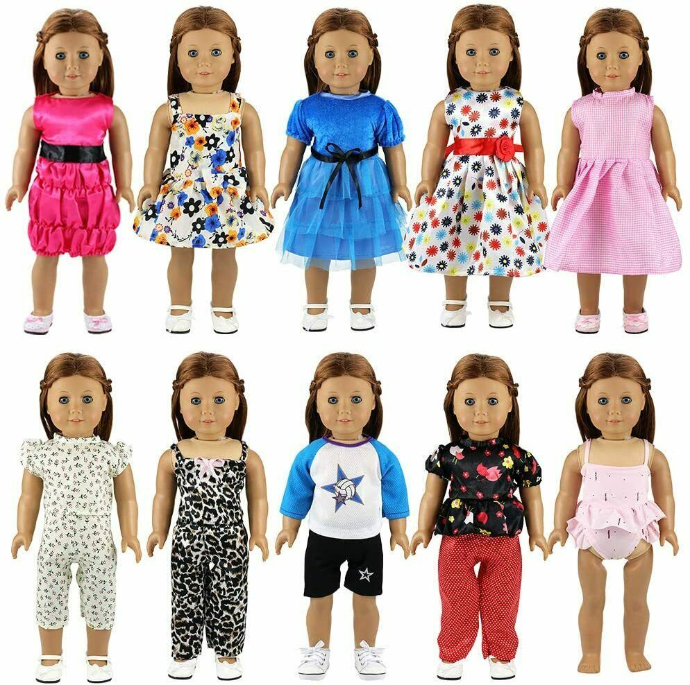Clothes For American Girl Doll Outfits Dolls Clothing 10 Sets Clothes Ebay In 2020 Doll Clothes American Girl Girl Doll Clothes Boy Doll Clothes
