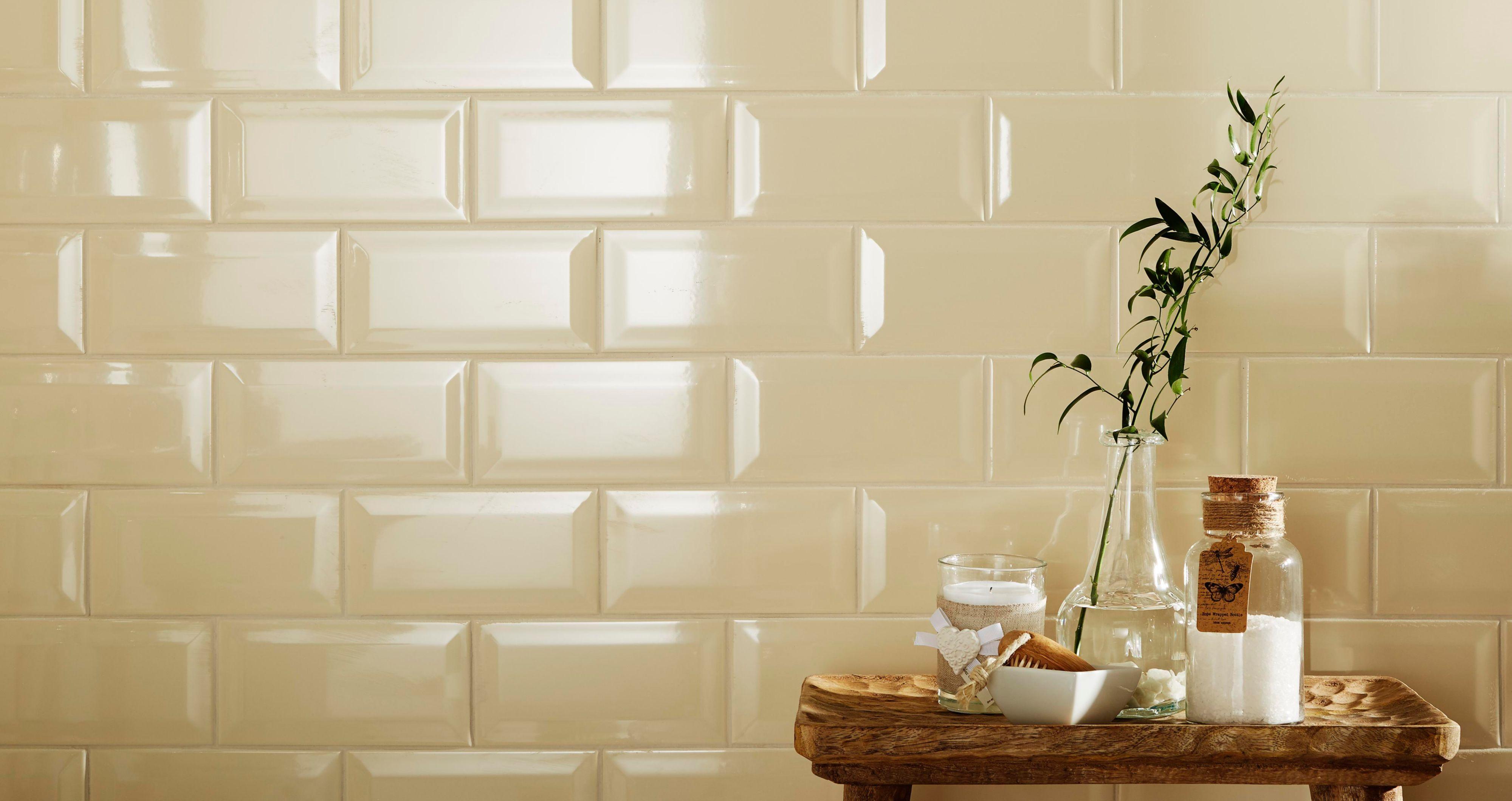 Metro Bevelled Edge Cream | Metro tiles, Brick patterns and Bricks