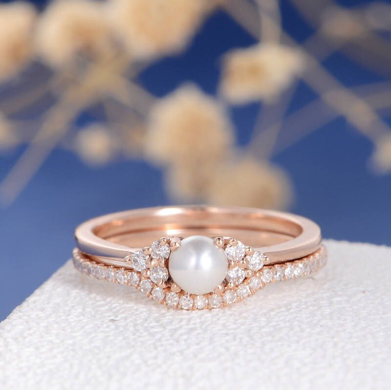 30++ Pearl wedding band with engagement ring information