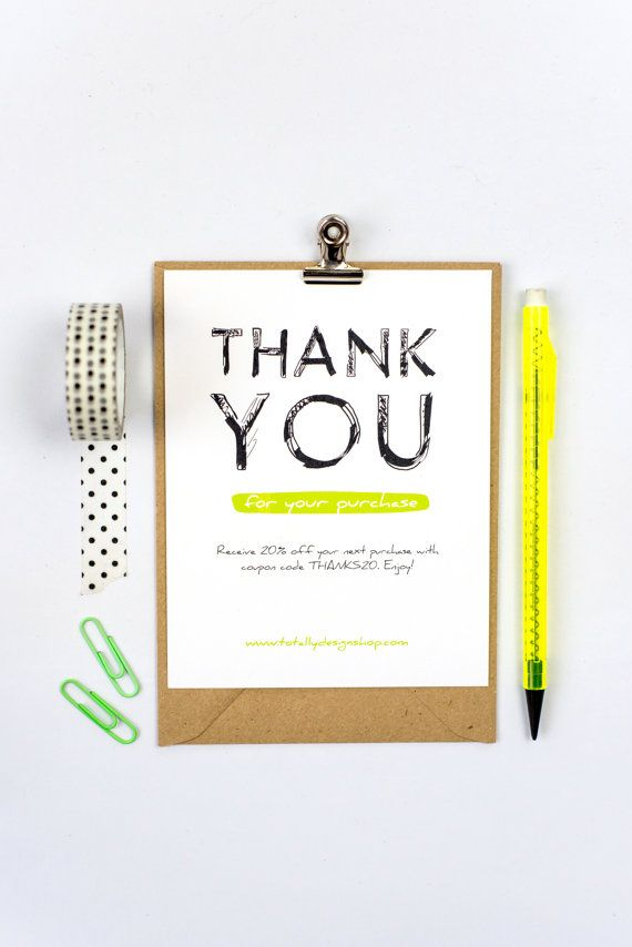 Business Thank You Card Template Business Thank You Cards Instant Download  Boldly Sketched  Business