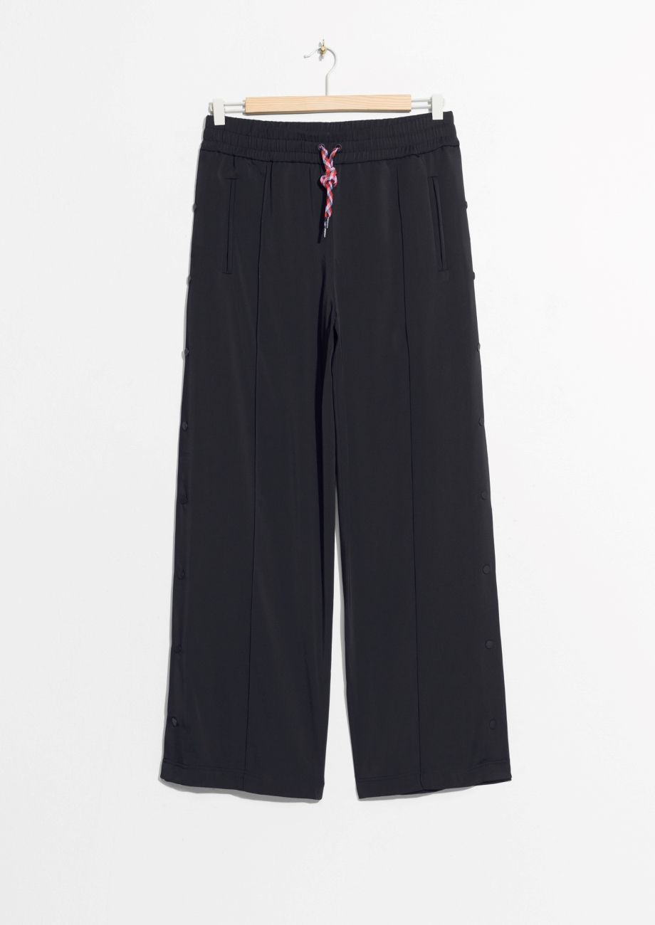 0c4befbf16a Other Stories image 1 of Button Side Panel Trousers in Black ...