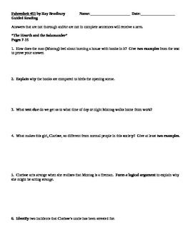 Worksheets Fahrenheit 451 Worksheets fahrenheit 451 by ray bradbury guided reading worksheets mrsnick